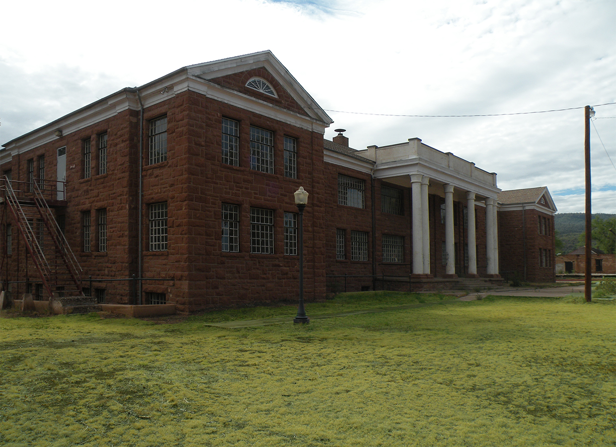 Theodore Roosevelt School at Fort Apache Front Entrance (image)
